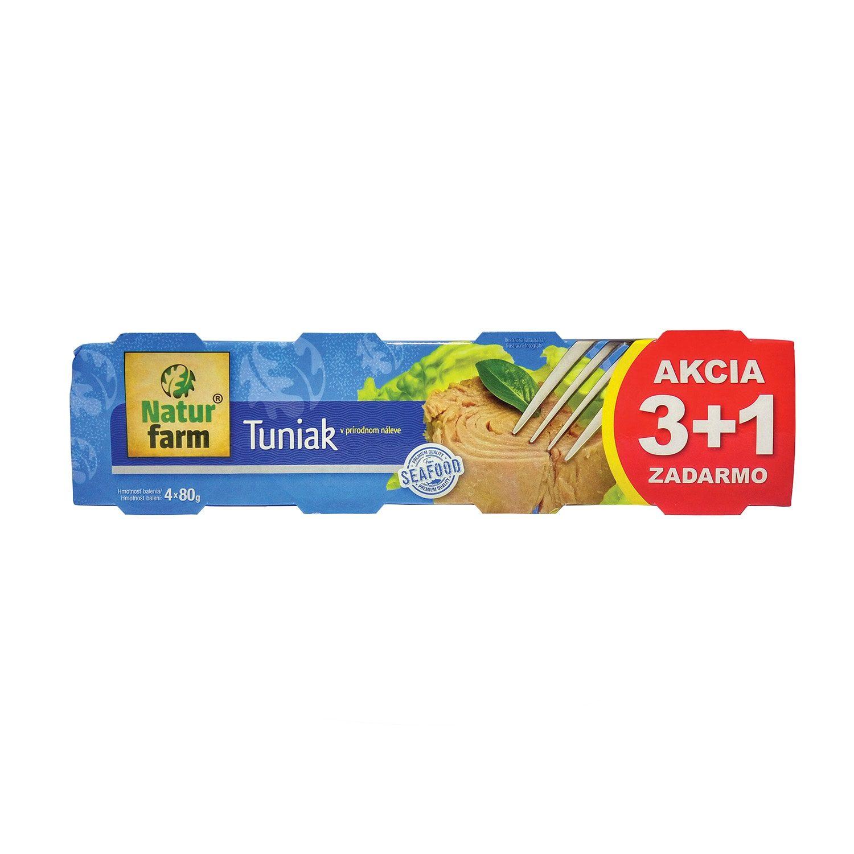 TUNIAK V PRÍRODNOM NÁLEVE - 4 x 80 g