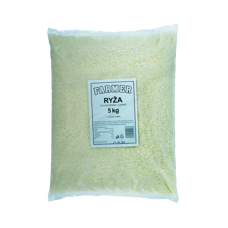 FARMER ryža guľatozrnná, lúpaná - 5 kg