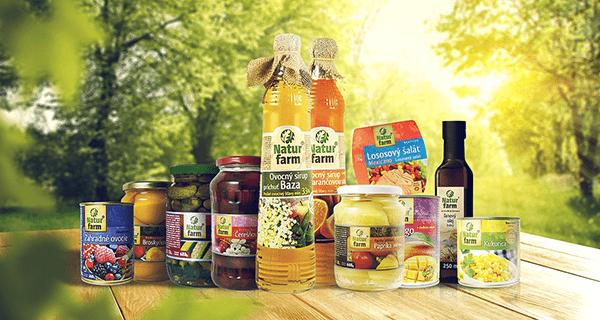 Baláčky produktov Natur Farm