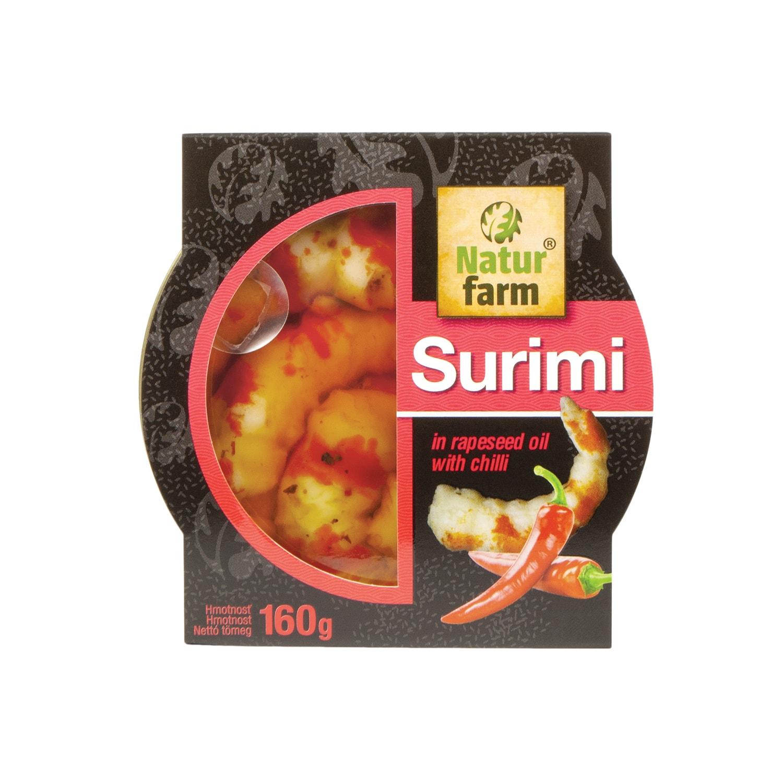Surimi s krabou arómou v repkovom oleji s čili 160 g